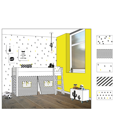 illustraties mode interieur kinderboek het. Black Bedroom Furniture Sets. Home Design Ideas